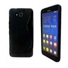 Черный силиконовый чехол для Huawei Honor 3X