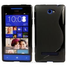 Черный силиконовый чехол для HTC 8S