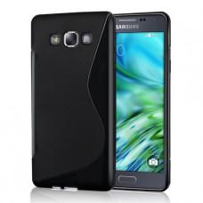 Черный силиконовый чехол для Samsung Galaxy A7