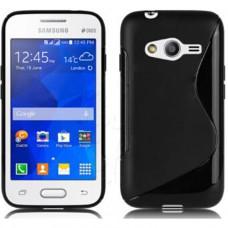 Черный силиконовый чехол для Samsung Galaxy Ace 4 Lite