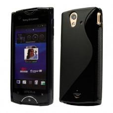 Черный силиконовый чехол для Sony Xperia ray st18i