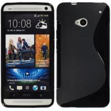Черный силиконовый чехол для HTC One (M7)