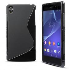 Черный силиконовый чехол для Sony Xperia z2