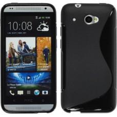 Черный силиконовый чехол для HTC Desire 601