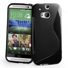 Черный силиконовый чехол для HTC One m8/m8s