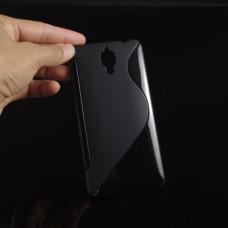 Черный силиконовый чехол для Xiaomi mi4