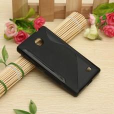 Черный силиконовый чехол для Nokia X