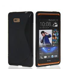 Черный силиконовый чехол для HTC Desire 600/606w