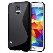 Черный силиконовый чехол для Samsung Galaxy s5 mini
