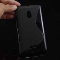 Черный силиконовый чехол для Nokia XL