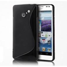 Черный силиконовый чехол для Huawei Ascend D2