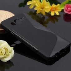 Черный силиконовый чехол для Samsung Galaxy A3