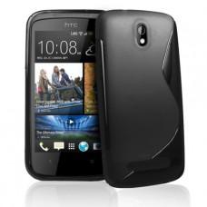 Черный силиконовый чехол для HTC Desire 500