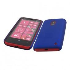 Синий пластиковый чехол для Nokia Lumia 620