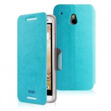 Синий чехол книжка Mofi для HTC One mini