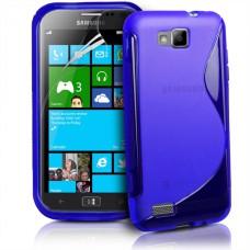Синий силиконовый чехол для Samsung Ativ S