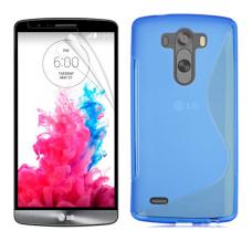Синий силиконовый чехол для LG G3 s