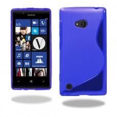 Синий силиконовый чехол для Nokia Lumia 720