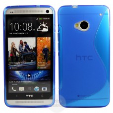 Синий силиконовый чехол для HTC One (M7)