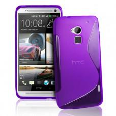Синий силиконовый чехол для HTC One Max