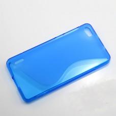 Синий силиконовый чехол для Huawei Honor 6
