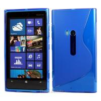 Синий силиконовый чехол для Nokia Lumia 920