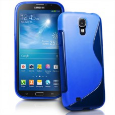 Синий силиконовый чехол для Samsung Galaxy Mega 6.3