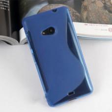 Синий силиконовый чехол для Nokia Lumia 535