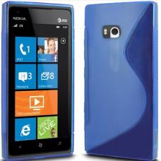 Синий силиконовый чехол для Nokia Lumia 900