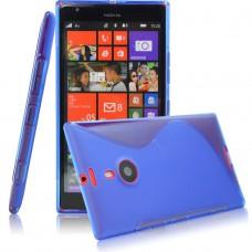 Синий силиконовый чехол для Nokia Lumia 1520