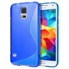 Синий силиконовый чехол для Samsung Galaxy S5