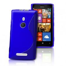 Синий силиконовый чехол для Nokia Lumia 925