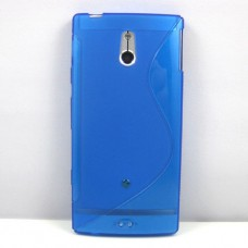 Синий силиконовый чехол для Sony Xperia P lt22i
