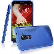 Синий силиконовый чехол для LG G2