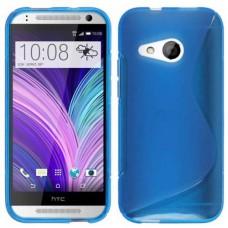 Синий силиконовый чехол для HTC One mini 2