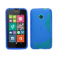 Синий силиконовый чехол для Nokia Lumia 530