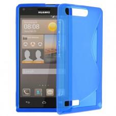 Синий силиконовый чехол для Huawei Ascend G6