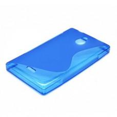 Синий силиконовый чехол для Nokia X2