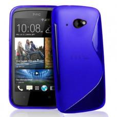 Синий силиконовый чехол для HTC Desire 601