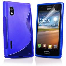 Синий силиконовый чехол для LG Optimus L5