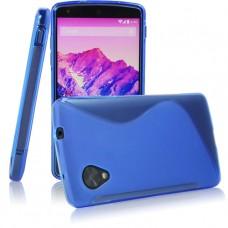 Синий силиконовый чехол для LG Nexus 5