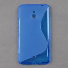 Синий силиконовый чехол для Nokia Lumia 1320