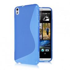 Синий силиконовый чехол для HTC Desire 800/816