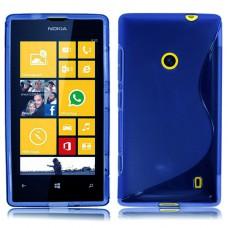 Синий силиконовый чехол для Nokia Lumia 520/525