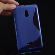 Синий силиконовый чехол для Nokia XL