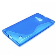 Синий силиконовый чехол для Nokia Lumia 730/735