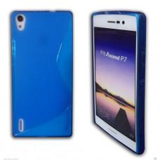 Синий силиконовый чехол для Huawei Ascend P7