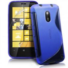 Синий силикноновый чехол для Nokia Lumia 620