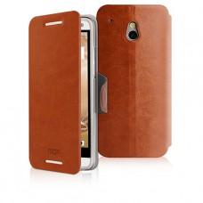 Коричневый чехол книжка Mofi для HTC One mini