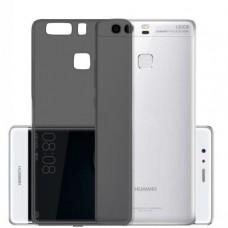 Черный (темно-прозрачный) силиконовый чехол для Huawei P9 Plus